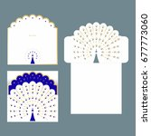 invitation and envelope with... | Shutterstock .eps vector #677773060