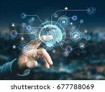 view of an international...   Shutterstock . vector #677788069