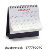 desk top tent calendar isolated ... | Shutterstock . vector #677790070