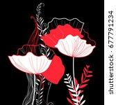 vibrant vector greeting card... | Shutterstock .eps vector #677791234