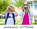 children go back to school.... | Shutterstock . vector #677793568