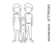 family with kids icon | Shutterstock .eps vector #677795263