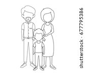 family with kids icon | Shutterstock .eps vector #677795386