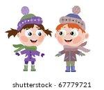 boy and girl | Shutterstock .eps vector #67779721