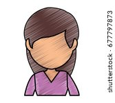avatar woman icon  | Shutterstock .eps vector #677797873