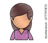 avatar woman icon  | Shutterstock .eps vector #677797873