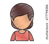 avatar woman icon  | Shutterstock .eps vector #677798386