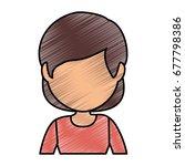 avatar woman icon  | Shutterstock .eps vector #677798386