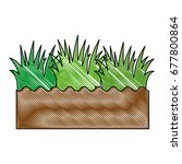 soil and grass icon | Shutterstock .eps vector #677800864