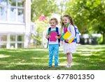 children go back to school.... | Shutterstock . vector #677801350