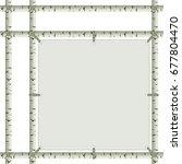 simple birch tree frame. | Shutterstock .eps vector #677804470