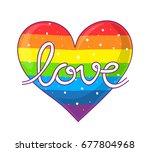 hand lettering of the word love ...   Shutterstock . vector #677804968