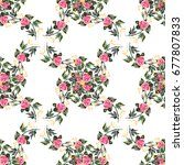 seamless pattern watercolor... | Shutterstock . vector #677807833