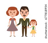 retro family cartoon | Shutterstock .eps vector #677818954