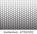 geometric black and white... | Shutterstock .eps vector #677819293