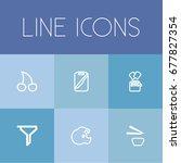set of 6 editable food icons....