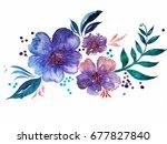 watercolor illustration | Shutterstock . vector #677827840