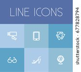 set of 6 editable trade icons....