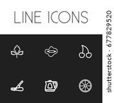 set of 6 editable meal icons....