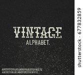 vintage stamp alphabet. on... | Shutterstock .eps vector #677832859