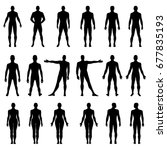 fashion man  woman body set...   Shutterstock .eps vector #677835193