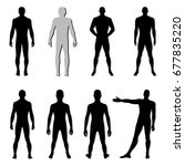 fashion man body set full... | Shutterstock .eps vector #677835220