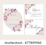 wedding floral template... | Shutterstock .eps vector #677849560
