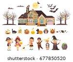 stock vector illustration... | Shutterstock .eps vector #677850520
