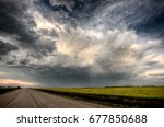 storm clouds saskatchewan...   Shutterstock . vector #677850688