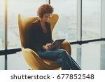 young cute brazilian... | Shutterstock . vector #677852548