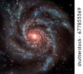 The Pinwheel Galaxy, also known as Messier 101, M101 or NGC 5457, is a face-on spiral galaxy in the constellation Ursa Major. Elements of this image furnished by NASA.