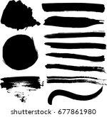 set of vector textures brush... | Shutterstock .eps vector #677861980