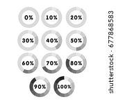 modern circle progress bar ... | Shutterstock .eps vector #677868583