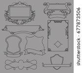 ornate frames and scroll... | Shutterstock .eps vector #677873506
