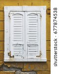 old and worn generic white... | Shutterstock . vector #677874538