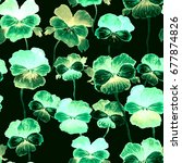 neon watercolor seamless... | Shutterstock . vector #677874826