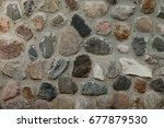 fragment of old stone wall...   Shutterstock . vector #677879530