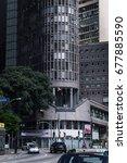 Small photo of SAO PAULO, BRAZIL - MAY 1, 2017: The facade of Italia Building (Circolo Italiano). Building located at Avenida Ipiranga avenue, near Square of the Republic in Republica district.