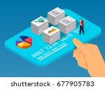 job performance and wages | Shutterstock .eps vector #677905783