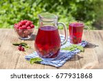 red compote with cherry ... | Shutterstock . vector #677931868