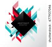 abstract geometric   vector... | Shutterstock .eps vector #677937046