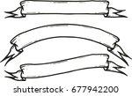 set of hand drawn banner vector ... | Shutterstock .eps vector #677942200