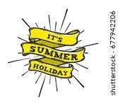 summer hand drawn banner vector ... | Shutterstock .eps vector #677942206