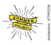 summer hand drawn banner vector ... | Shutterstock .eps vector #677942236