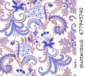 seamless ornate pattern with ...   Shutterstock .eps vector #677945740
