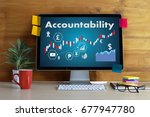 accountability savings account... | Shutterstock . vector #677947780