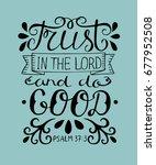 hand lettering trust in the... | Shutterstock .eps vector #677952508