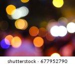 an intentionally blurred... | Shutterstock . vector #677952790