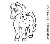 vector cute cartoon  line art... | Shutterstock .eps vector #677956714