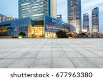 city square and modern... | Shutterstock . vector #677963380
